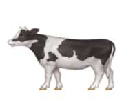 ios emoji cow