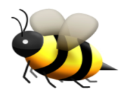 ios emoji honeybee