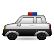 ios emoji police car