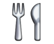 ios emoji fork and knife