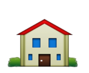 ios emoji house building