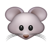 ios emoji mouse face