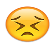 ios emoji persevering face