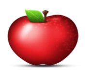 ios emoji red apple