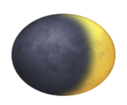 ios emoji waxing crescent moon symbol