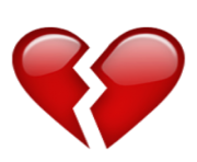 ios emoji broken heart