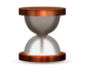 ios emoji hourglass with flowing sand