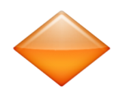 ios emoji large orange diamond