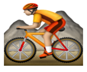 ios emoji mountain bicyclist