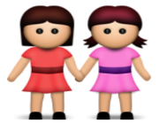 ios emoji two women holding hands