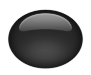 ios emoji medium black circle