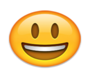 ios emoji smiling face with open mouth