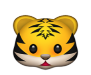 ios emoji tiger face