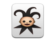 ios emoji playing card black joker