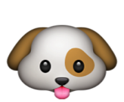 ios emoji dog face