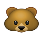 ios emoji bear face