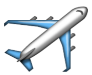 ios emoji airplane