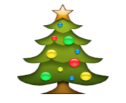 ios emoji christmas tree