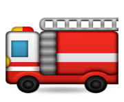 ios emoji fire engine