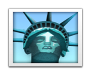 ios emoji statue of liberty