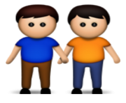ios emoji two men holding hands