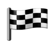 ios emoji chequered flag