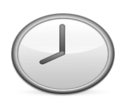 ios emoji clock face eight oclock