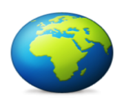 ios emoji earth globe europe africa
