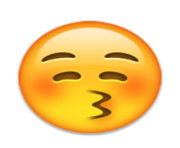 ios emoji kissing face with closed eyes