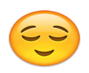 ios emoji relieved face