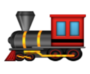 ios emoji steam locomotive