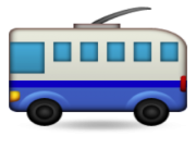 ios emoji trolleybus