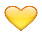 ios emoji yellow heart