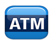 ios emoji automated teller machine