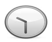 ios emoji clock face ten thirty