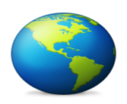 ios emoji earth globe americas