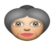 ios emoji older woman