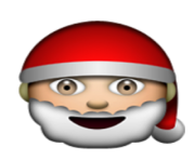 ios emoji father christmas