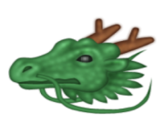 ios emoji dragon face