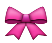 ios emoji ribbon