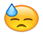 ios emoji face with cold sweat