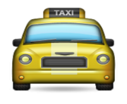 ios emoji oncoming taxi
