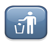 ios emoji put litter in its place symbol