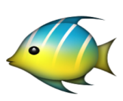 ios emoji tropical fish