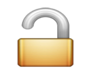 ios emoji open lock