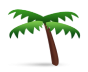 ios emoji palm tree