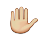 ios emoji raised hand
