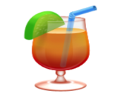 ios emoji tropical drink