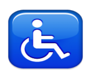 ios emoji wheelchair symbol