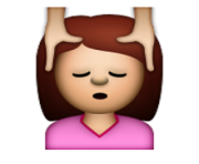ios emoji face massage